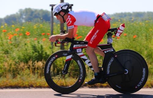 27. Mai: Philipp Gubler aus Werdenberg gewann in Zofingen seine erste Goldmedaille an Schweizer Meisterschaften – jedoch nicht in seiner Sportart Triathlon, sondern im Duathlon.Bild: PD