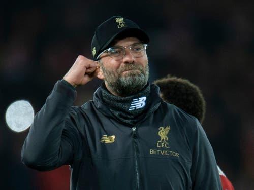 Jürgen Klopp ist mit Liverpool in dieser Saison in der Premier League weiterhin ungeschlagen (Bild: KEYSTONE/EPA/PETER POWELL)
