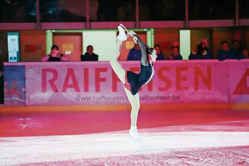 Eine wunderschöne Pirouette von Vereinsmeisterin Romana Kaiser