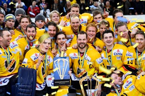 KalPa Kuopia gewinnt den 92. Spengler-Cup in Davos. Bild: Gian Ehrenzeller / Keystone (Davos, 31.12.2018)
