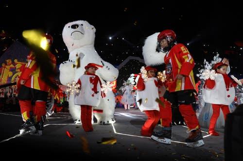 China: Kinder treten an einer Silvester-Veranstaltung in Peking auf. (Bild: KEYSTONE/AP Photo/Ng Han Guan)