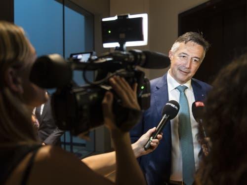 Dem Nidwaldner FDP-Ständerat Hans Wicki werden im Rennen um die Nachfolge von Bundesrat Johann Schneider-Ammann lediglich Aussenseiterchancen eingeräumt. (Bild: Keystone/ALESSANDRO DELLA VALLE)