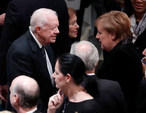 Jimmy Carter und Angela Merkel waren unter den Gästen. (Bild: Erik S. Lesser / EPA)