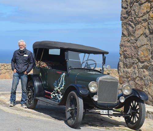Bernhard Brägger hat in Cabo da Roca den westlichsten Punkt seiner Reise erreicht. (Bild: PD)