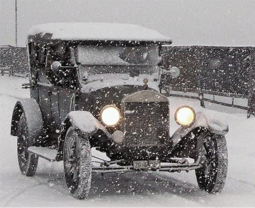 Auch im Schneegestöber bewährte sich die Tin Lizzy. (Bild: PD)
