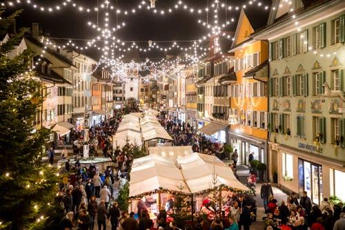 Während drei Tagen findet in Willisau der traditionelle Christkindli-Märt statt. (Bild: Philipp Schmidli, Willisau, 7. Dezember 2018)