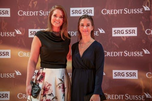 Florence Schelling, links, und Laura Benz, rechts. (Bild: KEYSTONE/Melanie Duchene, 9. Dezember 2018)