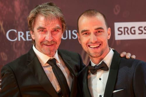 Ernst Schurter und sein Sohn Nino. (Bild: KEYSTONE/Melanie Duchene, 9. Dezember 2018)