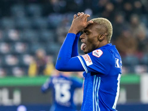 Blessing Eleke war für Luzern beim 3:2-Sieg gegen die Grasshoppers zweifacher Torschütze (Bild: KEYSTONE/ALEXANDRA WEY)