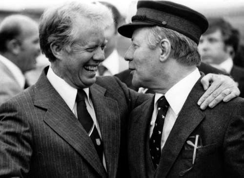 Auch US-Präsident Jimmy Carter war bei Helmut Schmidt: Am 15. Juli 1978. (Bild: Keystone)