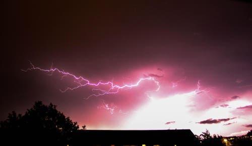 Unwetter in Kriens (Bild: Leser Adrian Frischknecht)