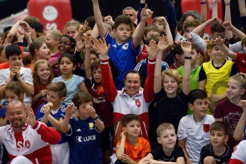 Grosse Freude herrscht vor dem Fedcup in Luzern. (Bild: Nadia Schärli (Neue LZ))