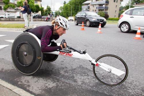 Manuela Schär gewann ihren Wettkampf klar. (Bild: Beat Blättler)