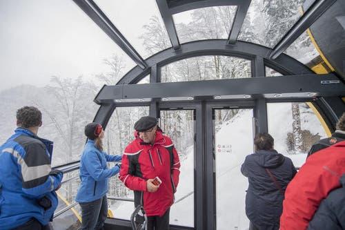 Die Kabinen sind hell und bieten einen guten Ausblick. (Bild: Urs Flüeler / Keystone (Schwyz, 16. Dezember 2017))