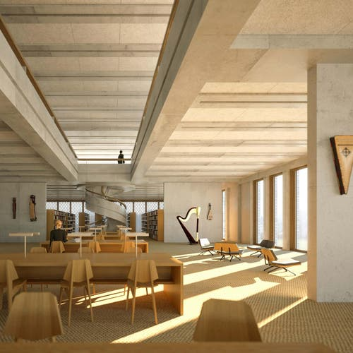 Bibliothek (Bild: Enzmann Fischer & Büro Konstrukt)