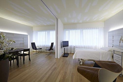 Einzelzimmer in der Privatabteilung «excellende» im Luzerner Kantonsspital. (Bild: PD)