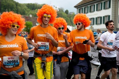 Die Gruppe Concordia Happy. (Bild: Eveline Beerkircher / Neue LZ)