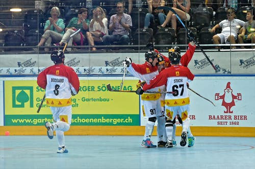 19. - 29. Juni: Die Streethockey-WM wird in Zug ausgetragen und begeistert die ganze Zentralschweiz. (Bild: Christian Herbert Hildebrand / Neue ZZ)
