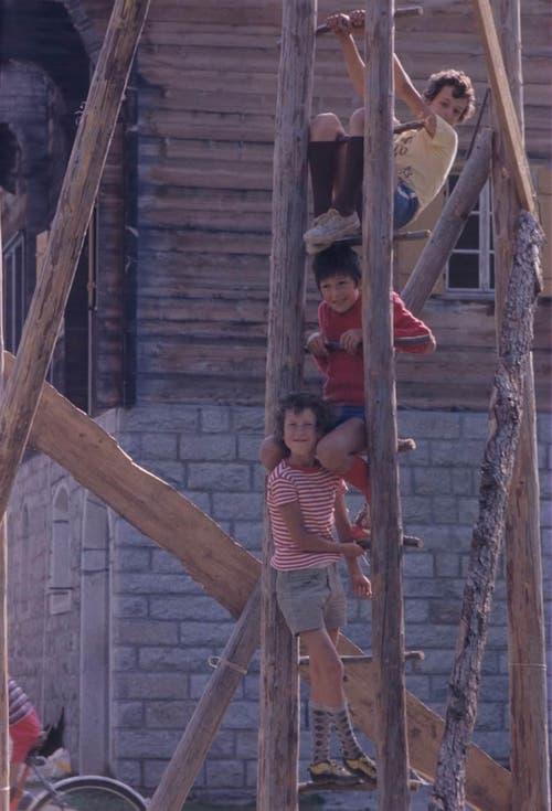 Das Sommerlager 1973 in Oberwald.