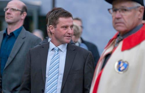Andre Windlin, FDP, der Kernser Gemeindepraesident, hat die Wahl zum Ständerat nicht geschafft. (Bild: Alexandra Wey /Keystone)