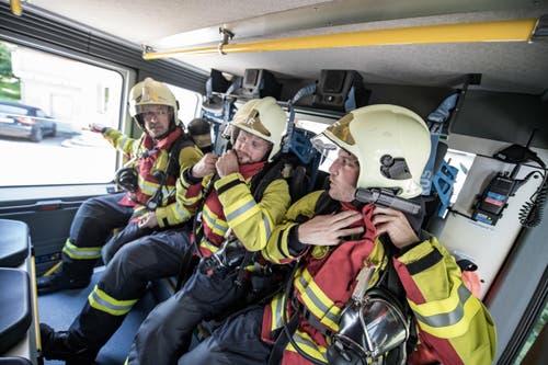 Und was machen die Feuerwehrleute, wenn es keinen Ernstfall gibt? (Bild: Pius Amrein (Neue LZ))