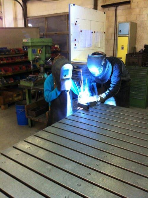 Renggli Larissa bei der Schweiss -Arbeit bei Wiba-Sport. (Bild: Renggli David)