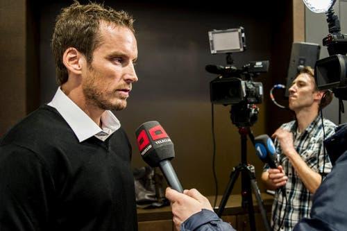 Patrick Fischer wird den Medien als neuen Nati-Coach vorgestellt (3. Dezember). (Bild: Keystone / Sebastian Schneider)