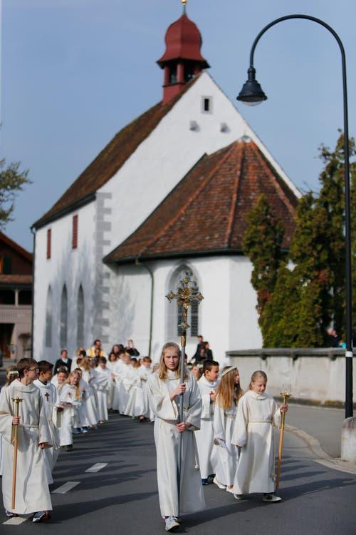Auch in der Baarer Kirche St. Martin (im Bild)... (Bild: Stefan Kaiser / Neue ZZ)