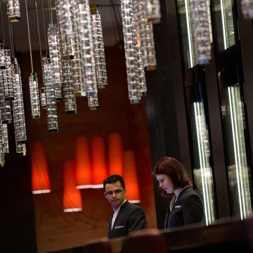 Reception des neuen Luxushotels «Chedi» (Bild: Pius Amrein / Neue LZ)