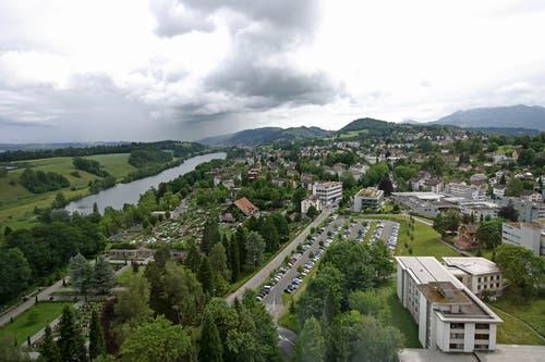 Aussicht von der neuen Privatabteilung im Luzerner Kantonsspital. (Bild: Philipp Schmidli/Neue LZ)