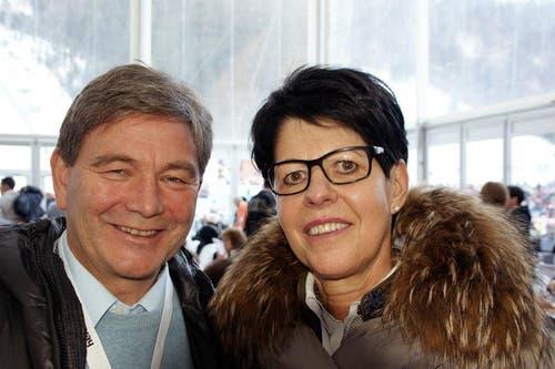 Yvonne von Deschwanden, Landmann des Kantons Nidwalden und Res Schmid, Regierungsrat und Sportminister des Kantons Nidwalden. (Bild: Primus Camenzind / Neue OZ)