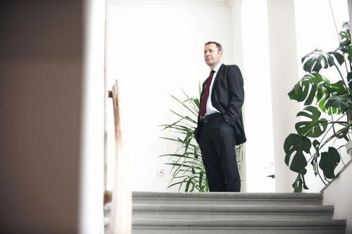 Othmar Filliger im Rathaus. (Bild: Corinne Glanzmann / Neue NZ)