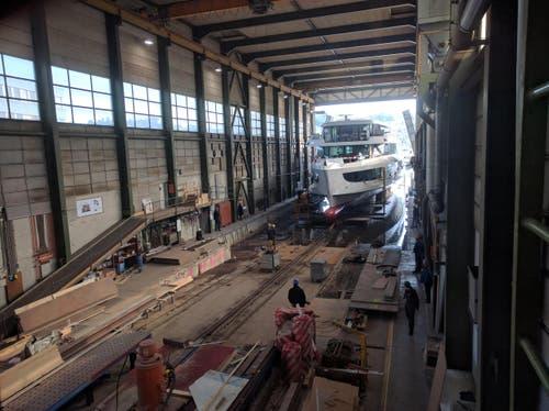 Ein Blick in die Werft. (Bild: SGV)