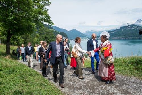 1. August Feier auf dem Rütli: Im Bild ist ein Simonetta Sommaruga . (Bild: Roger Grütter / Neue LZ)