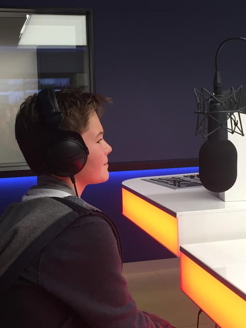 """Unheimlich, die erste """"eigene"""" Sendung bei Radio Pilatus. (Bild: zvg)"""