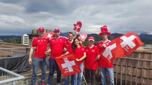 Pausenbild vom Spiel Schweiz : Albanien (Bild: Adrian Barmettler, Kriens)