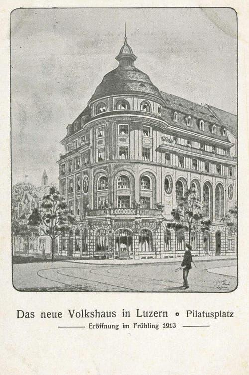 Hotel Anker, 1913 als Volkshaus / Unterkunft für Arbeiter (Bild: PD)