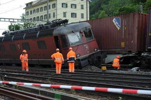 In den Zügen war jeweils ein Lokführer anwesend. Diese blieben unverletzt. (Bild: Urs Hanhart (Neue UZ))