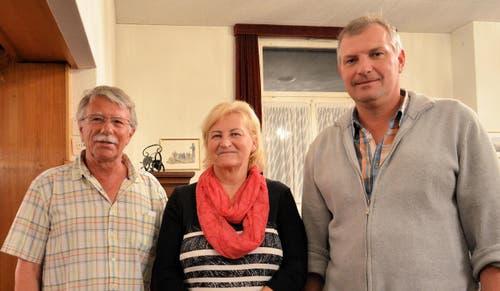 Manfred Gautschi, Marianne Waser und Josef Elmiger kamen auf die ersten Ränge. (Bild: Claudia Surek)