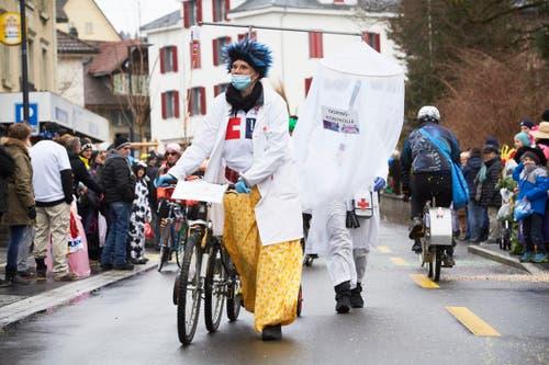 Die Stündeler und ihre Nummer «Tour de Swisse». (Bild: Jakob Ineichen / LZ (Schüpfheim, 11. Februar 2018))