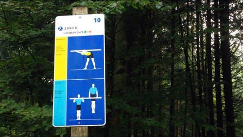 So präsentiert sich der Stop beim Vitaparcours in der realen Welt. (Bild: Stefanie Nopper / Luzernerzeitung.ch)