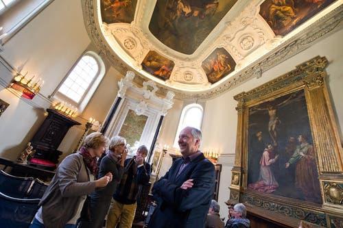 Die schönen Räume lockten viele Besucher an. (Bild: Dominik Wunderli / Neue LZ)