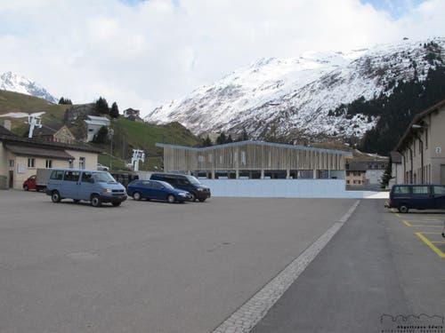Talstation Andermatt, im Hintergrund der Nätschen. (Bild: Visualisierung PD)
