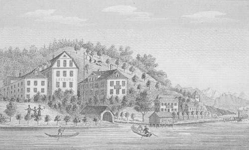 So sah die Seeburg im 19. Jahrhundert aus. (Bild: zvg)