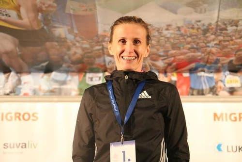 Die Gewinnerin des Elitelaufs der Frauen: Sonja Roman. (Bild: Ramona Geiger / luzernerzeitung.ch)