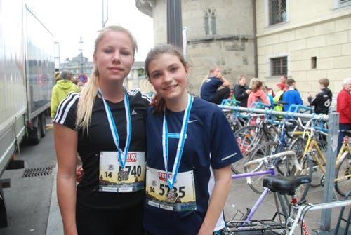 Annalena Schläpfer aus Kriens (links) und Cilia Capella aus Luzern. (Bild: Swiss-Image)
