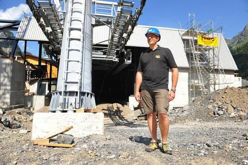 Xander Seiler von den Sportbahnen Melchsee-Frutt bei der Talstation auf Stöckalp. (Bild: Corinne Glanzmann / Neue NZ)