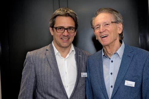Seit vielen Jahren grosszügige Spender und treue Freunde der LZ-Weihnachtsaktion: von der Schmid-Gruppe Markus und Hans Schmid, CEO und Verwaltungsratspräsident. (Bild: Nadia Schärli / Neue LZ)