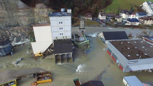 Das betroffene Gebiet, aus der Luft betrachtet. (Bild: ZSO Emme)