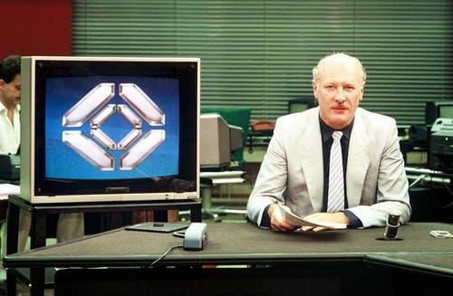 1986: Erich Gysling (Bild: SRF)